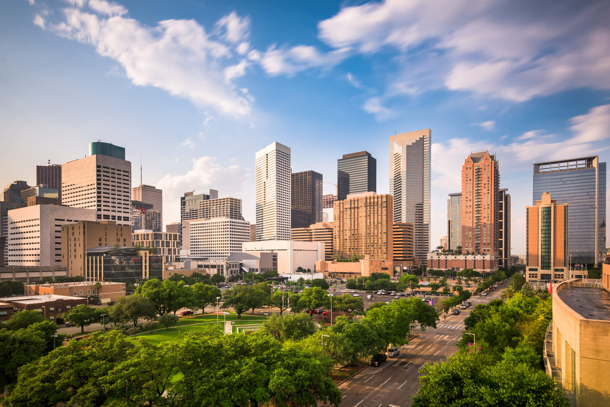 Photo of downtown Houston, which is another one of our locatios for titleloansonline.com