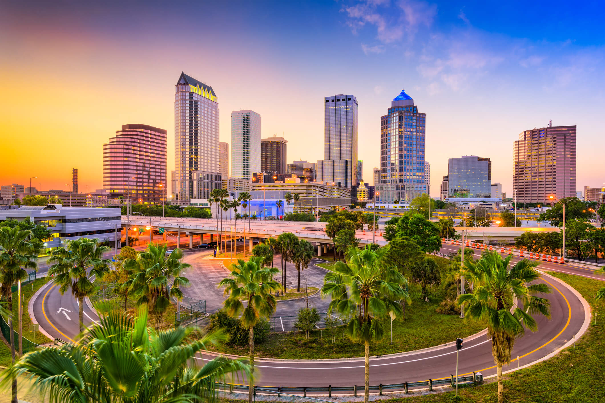 This is a photo of the tampa skyline which represents where one of our locations is for titleloansonline.com