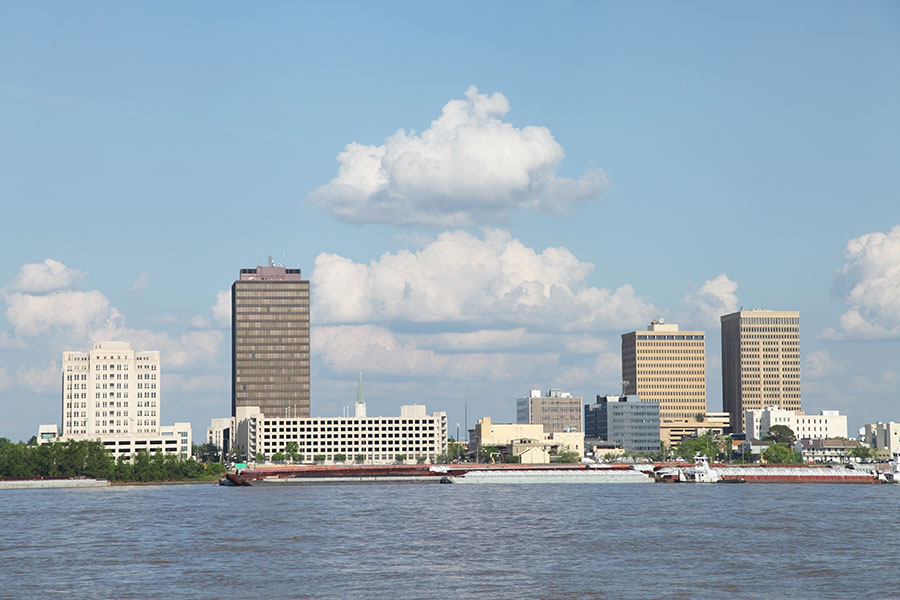 skyline of the downtown baton rouge