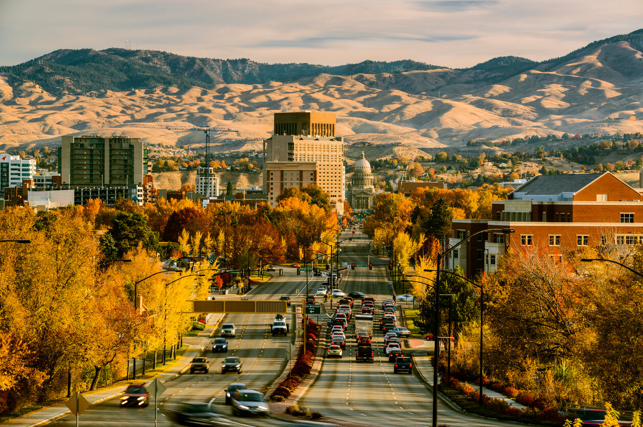this is a phot of downtown Boise Idaho
