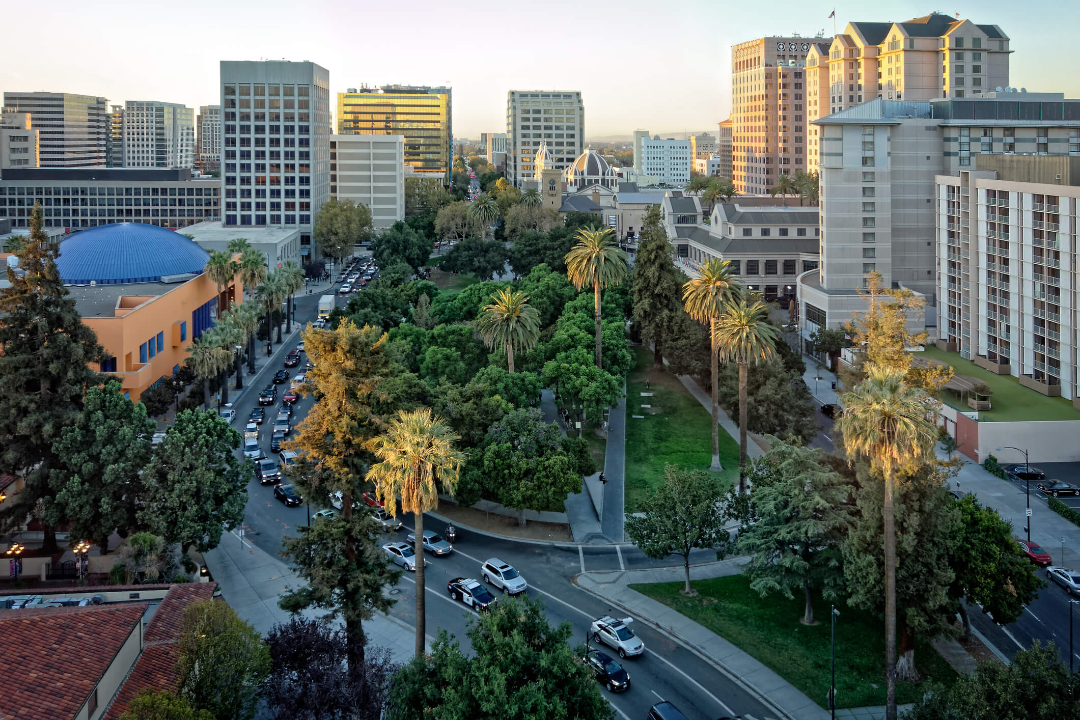 This is a photo of downtown San Jose, California
