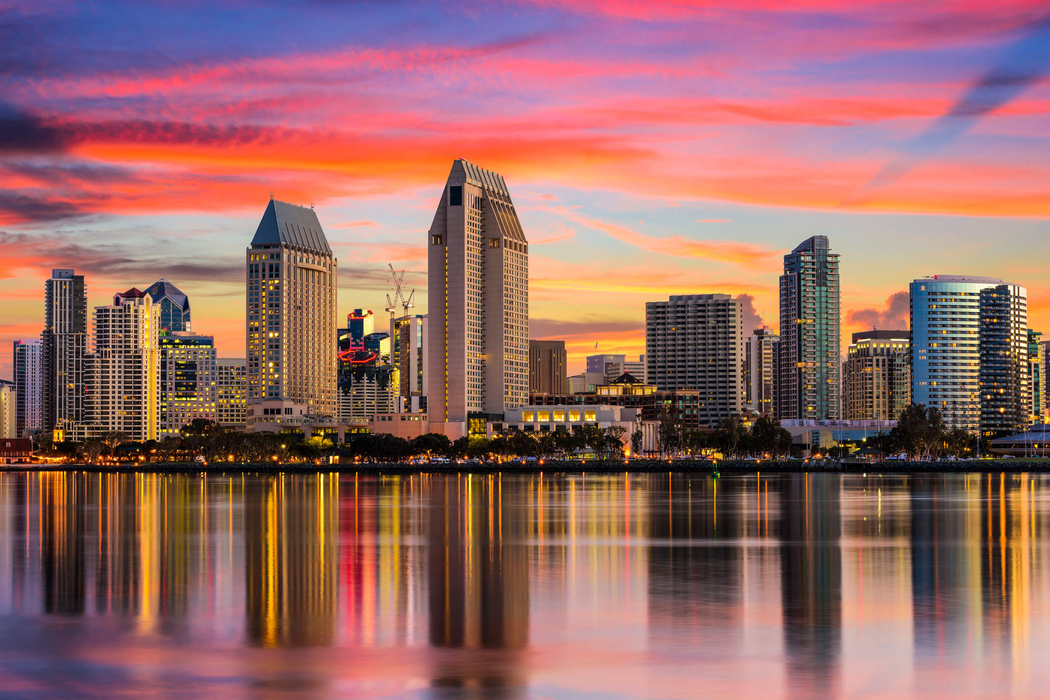 This is a photo of the San Diego skyline