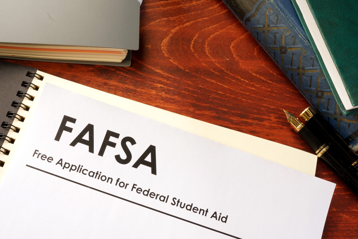 notebook of the free application for federal student aid