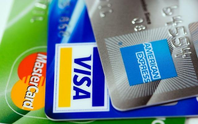 image of credit cards, master card, visa, american express